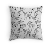 Origami Animals Throw Pillow