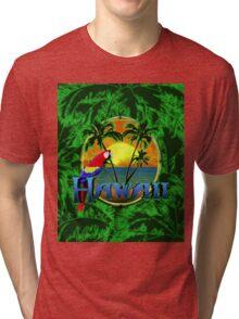 Tropical Hawaiia Sunset Tri-blend T-Shirt