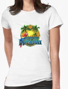 Hawaii Sunset Womens Fitted T-Shirt