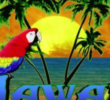 Hawaii Sunset Blue Honu Sticker