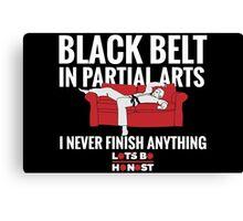 Black Belt In Partial Arts Canvas Print