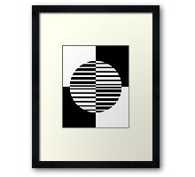Black and White Circle Framed Print