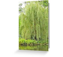 Weeping Willow by the Pond  Greeting Card