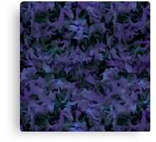 Retro Abstract Charcoal Amethyst Canvas Print