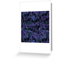Retro Abstract Charcoal Amethyst Greeting Card