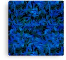 Retro Abstract Charcoal Sapphire Blue Canvas Print