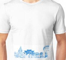 Liverpool Landmarks Montage Blue and White Unisex T-Shirt