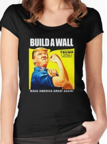Build a Wall Women's Fitted Scoop T-Shirt