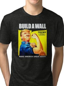 Build a Wall Tri-blend T-Shirt