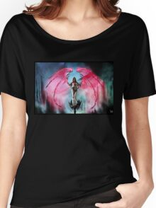 Robot Angel Painting 018 Women's Relaxed Fit T-Shirt