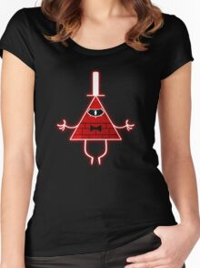 Gravity Falls Bill Cipher Angry Women's Fitted Scoop T-Shirt