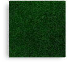 Retro Floral Jungle Green Canvas Print