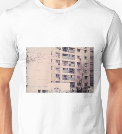 Vintage image of a tall block of flats. Unisex T-Shirt