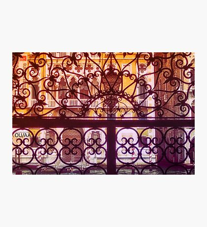 Venice scene. Decorative pattern view to buildings and canal. Photographic Print