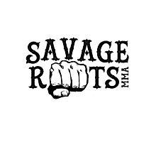 Savage Roots MMA Logo BLK Photographic Print
