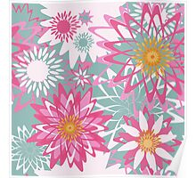 Graphical floral pattern Poster