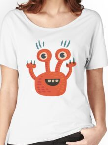 Funny Orange Creature Women's Relaxed Fit T-Shirt