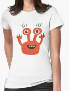 Funny Orange Creature Womens Fitted T-Shirt