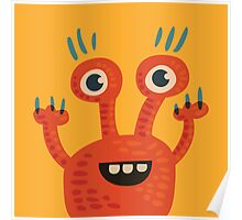 Funny Orange Creature Poster