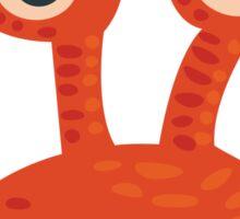 Funny Orange Creature Sticker