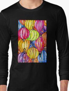 Vietnamese Rainbow Lanterns Long Sleeve T-Shirt