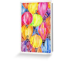 Vietnamese Rainbow Lanterns Greeting Card