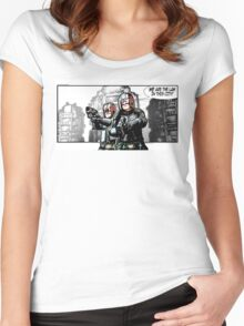 WE ARE THE LAW IN THIS CITY! Women's Fitted Scoop T-Shirt