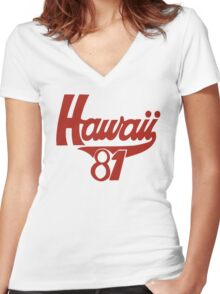 thom yorke's hawaii t shirt Women's Fitted V-Neck T-Shirt