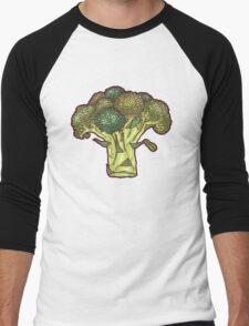 brilliant broccoli Men's Baseball ¾ T-Shirt