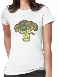 brilliant broccoli Womens Fitted T-Shirt