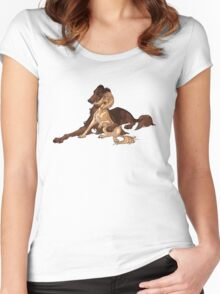 Ymir and Christa - Borzoi and Saluki Women's Fitted Scoop T-Shirt