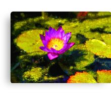 Vivacious Waterlily Impression Canvas Print