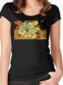 Autumn Petunias Women's Fitted Scoop T-Shirt