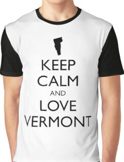 KEEP CALM and LOVE VERMONT Graphic T-Shirt