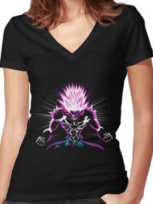 One Punch Man Boros Women's Fitted V-Neck T-Shirt