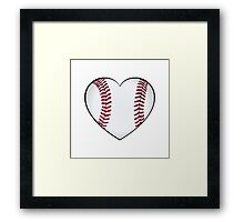 Baseball Heart Framed Print