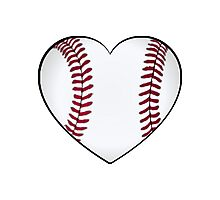 Baseball Heart Photographic Print