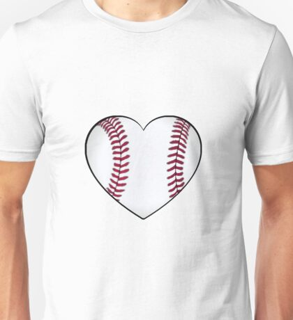 Baseball Heart Unisex T-Shirt