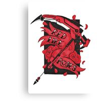 Red Like Roses  Canvas Print