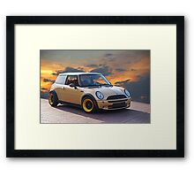 24 ct Mini Cooper 'Mini Me'  Framed Print