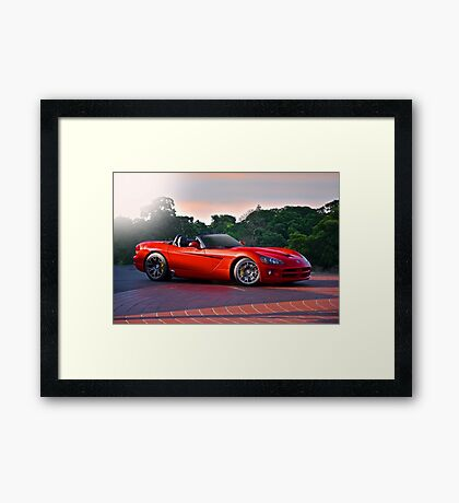 201X Dodge Viper 'In the Red' Framed Print