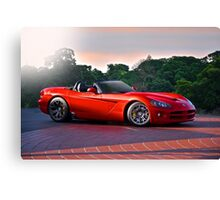 201X Dodge Viper 'In the Red' Canvas Print