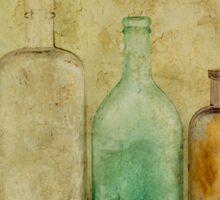 Three Bottles Gold Sticker