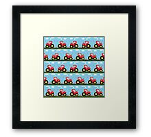 Toy tractor pattern Framed Print