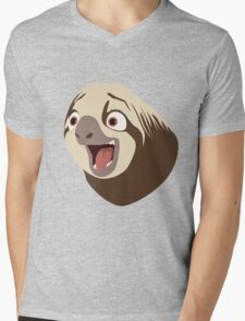 Sloth flash Mens V-Neck T-Shirt