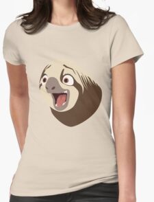 Sloth flash Womens Fitted T-Shirt
