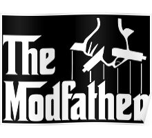 Vape Design The Modfather White Poster