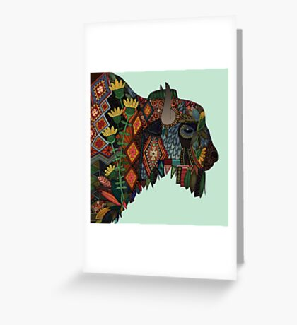 bison mint Greeting Card