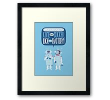 Flight of the Robots Framed Print