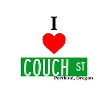 I Love Couch Street, Portland Oregon Photographic Print